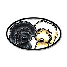 Black Golden Doodles 38.5 x 24.5 Oval Wall Peel