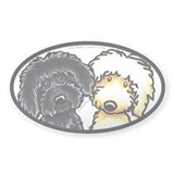 Black Golden Doodles Decal
