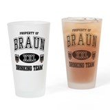 Braun German Drinking Team Drinking Glass
