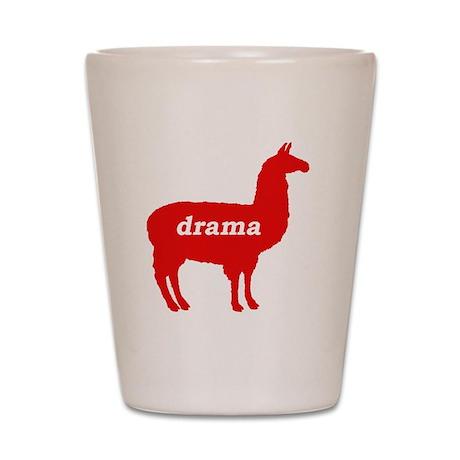 Drama Llama Shot Glass