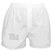 Specificity Definition Boxer Shorts