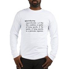 Specificity Definition Long Sleeve T-Shirt