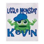 Little Monster Kevin Throw Blanket