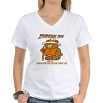INDIANA BEAR Women's V-Neck T-Shirt