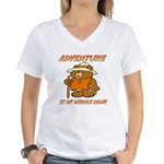 ADVENTURE BEAR Women's V-Neck T-Shirt
