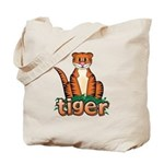 Cartoon Tiger Tote Bag