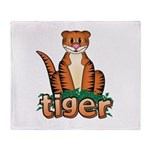 Cartoon Tiger Throw Blanket