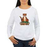 Cartoon Tiger Women's Long Sleeve T-Shirt
