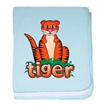 Cartoon Tiger baby blanket
