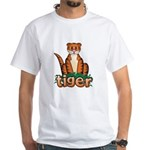 Cartoon Tiger White T-Shirt