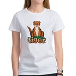 Cartoon Tiger Women's T-Shirt