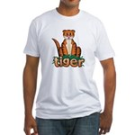Cartoon Tiger Fitted T-Shirt