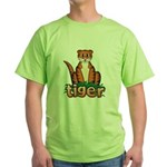 Cartoon Tiger Green T-Shirt