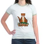 Cartoon Tiger Jr. Ringer T-Shirt