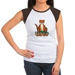 Cartoon Tiger Women's Cap Sleeve T-Shirt