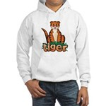Cartoon Tiger Hooded Sweatshirt