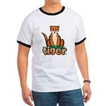 Cartoon Tiger Ringer T