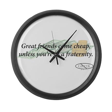 Cheap Friends Large Wall Clock by dottprints