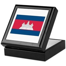 Cambodian Flag Keepsake Box