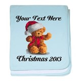 Christmas Teddy baby blanket