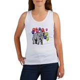 Elephant circus theme party Women's Tank Top