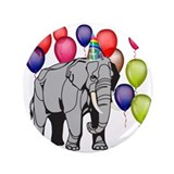 "Elephant circus theme party 3.5"" Button (100 pack)"