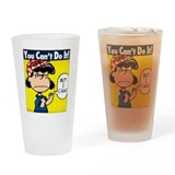 Lucy the Riveter Drinking Glass