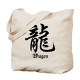 Chinese Zodiac Dragon Character Tote Bag