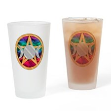 Pentagram Triple Goddess Drinking Glass