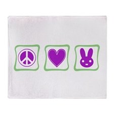 Peace, Love and Bunnies (Squa Throw Blanket
