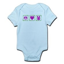 Peace, Love and Bunnies (Squa Infant Bodysuit