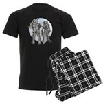 Cowboy moon Men's Dark Pajamas