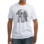 Cowboy moon Fitted T-Shirt