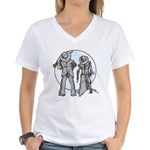 Cowboy moon Women's V-Neck T-Shirt