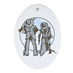 Cowboy moon Ornament (Oval)