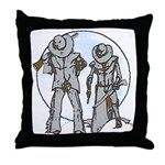 Cowboy moon Throw Pillow