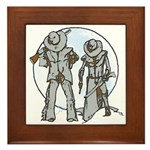 Cowboy moon Framed Tile