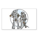 Cowboy moon Sticker (Rectangle 10 pk)