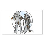 Cowboy moon Sticker (Rectangle 50 pk)