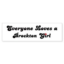 Loves Brockton Girl Bumper Bumper Sticker