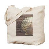 """Footprints in the Sand"" Tote Bag"