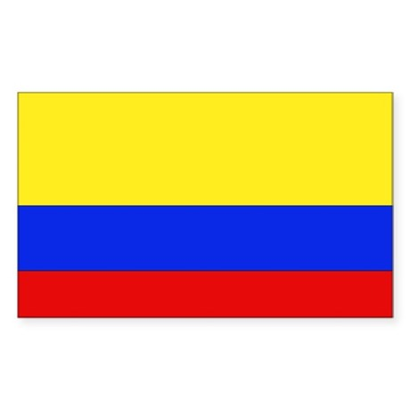 Colombian Flag Rectangle Sticker