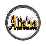 Alisha Name Wall Clock