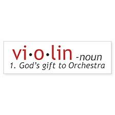 Definition of a Violin Car Sticker