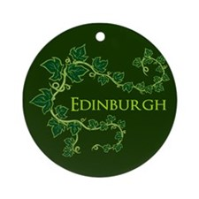Edinburgh Green Ornament (Round)