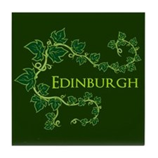 Edinburgh Green Tile Coaster