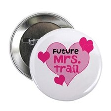"Cute Engaged 2.25"" Button"