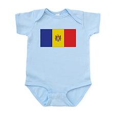 Moldova Flag Infant Creeper