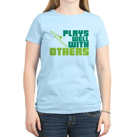 Trombone Plays Well Women's Light T-Shirt