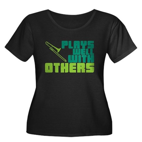 Trombone Plays Well Women's Plus Size Scoop Neck D